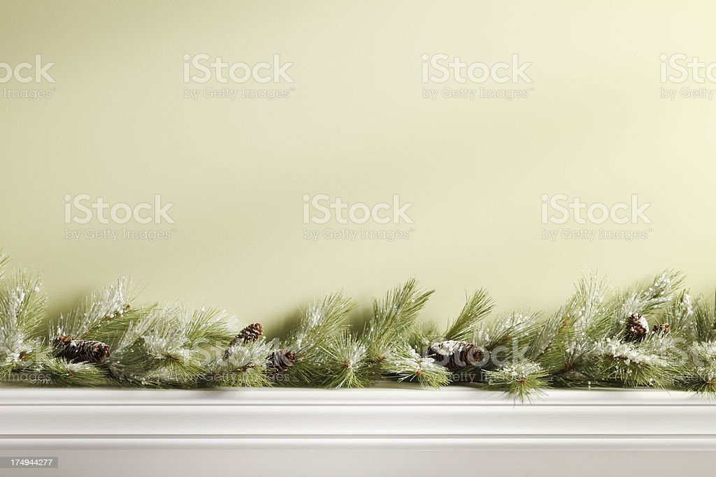 Christmas Mantel stock photo