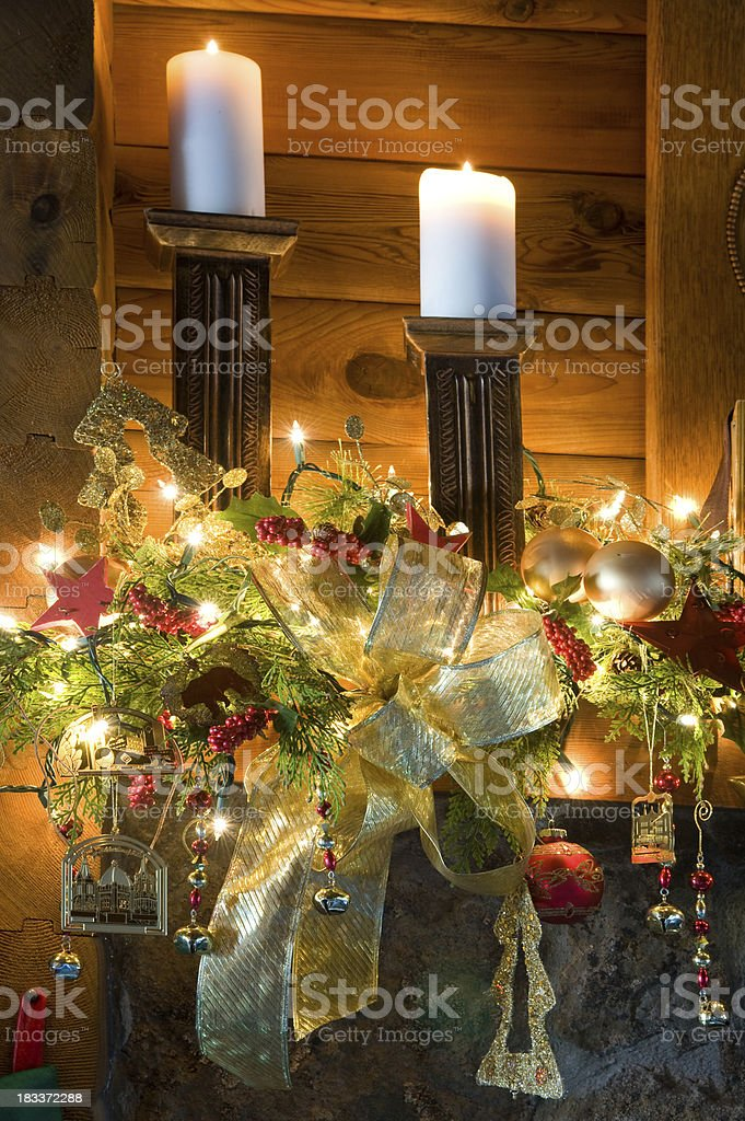 Christmas Mantel royalty-free stock photo