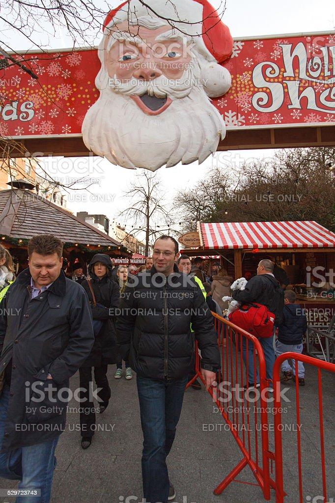 Christmas Market at St Stephen's Green, Dublin, Ireland stock photo