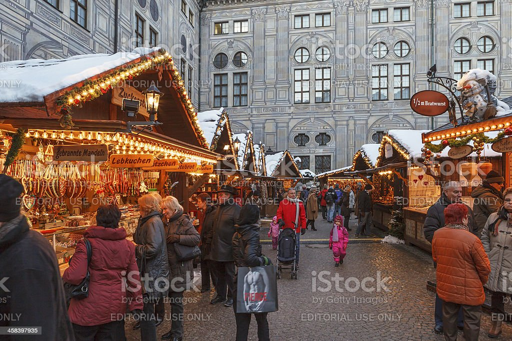 Christmas Market at the Residenz, Munich stock photo