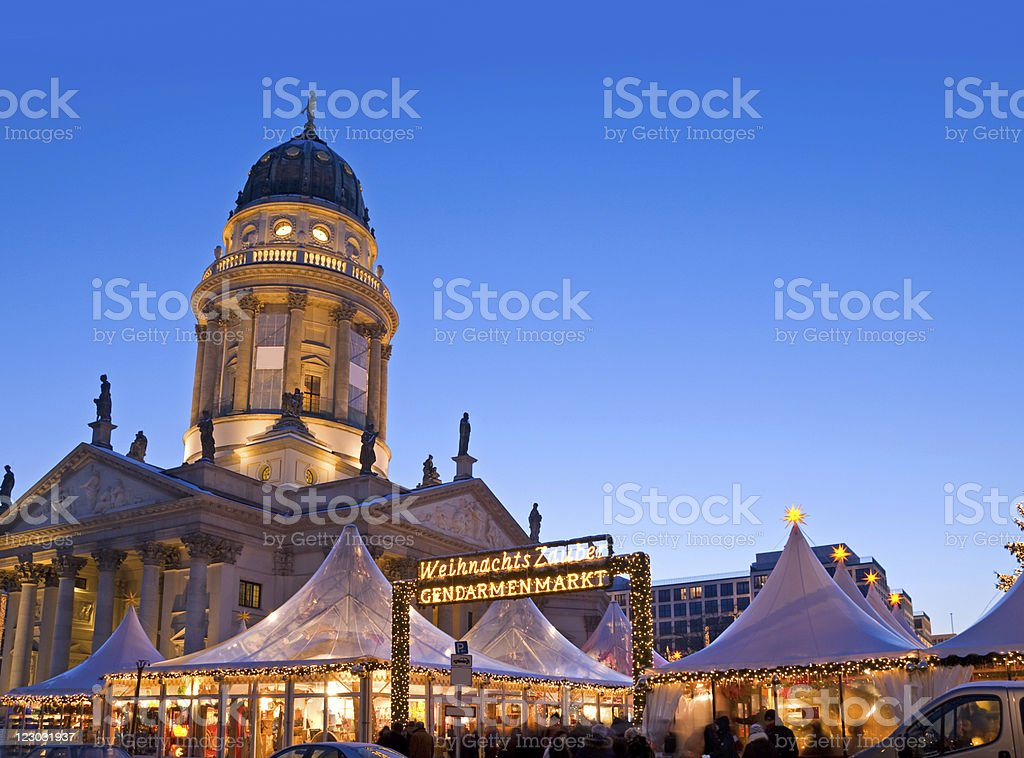 christmas market berlin stock photo