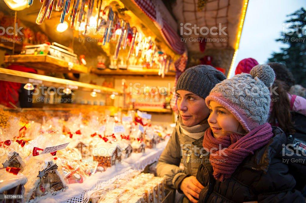 Christmas Market december stock photo