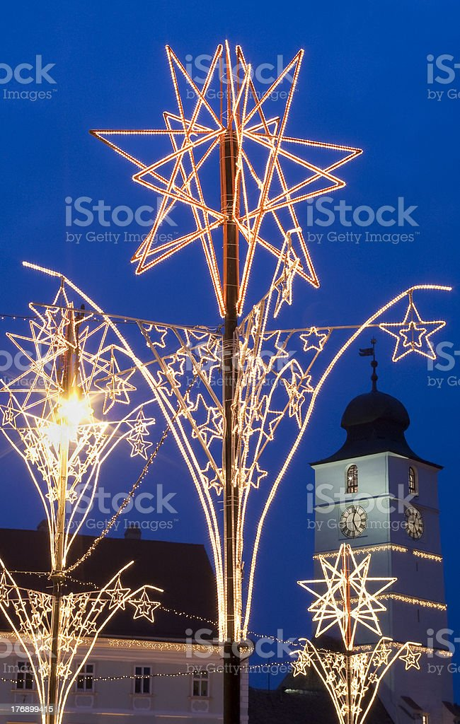 christmas market decoration royalty-free stock photo