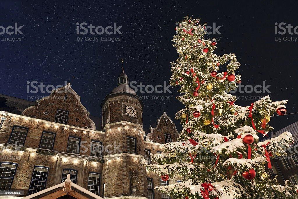 Christmas market D?sseldorf Germany stock photo
