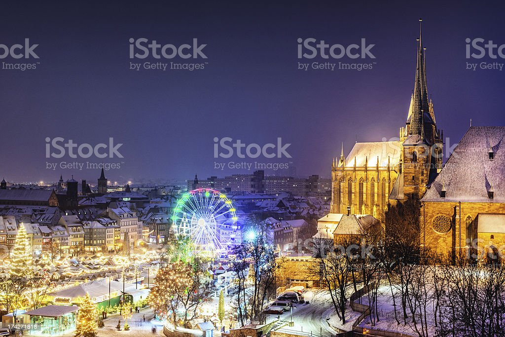 Weihnachtsmarkt (Christmas Market) Erfurt stock photo