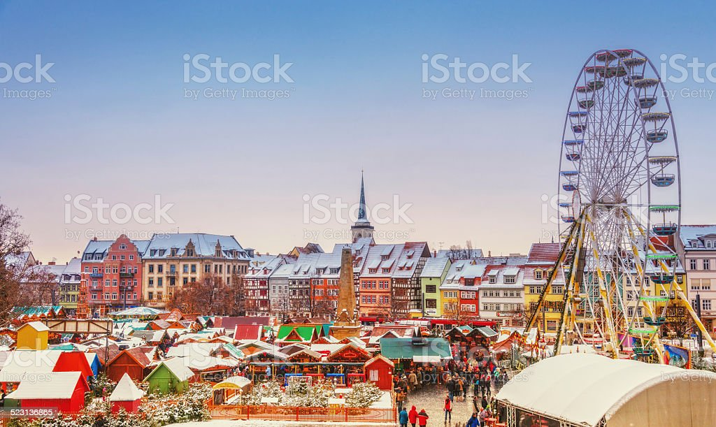 Christmas Market Erfurt stock photo