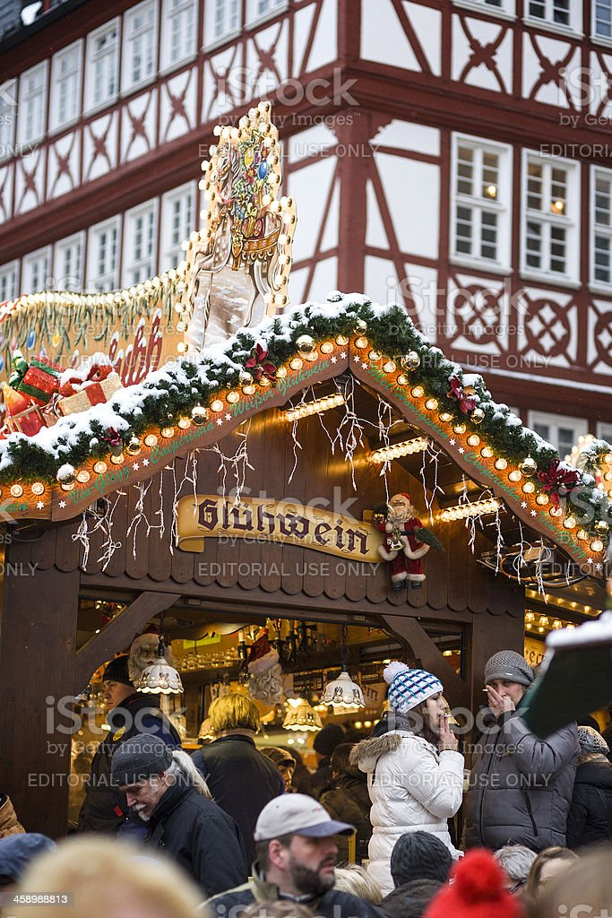 Christmas market Frankfurt, Germany royalty-free stock photo