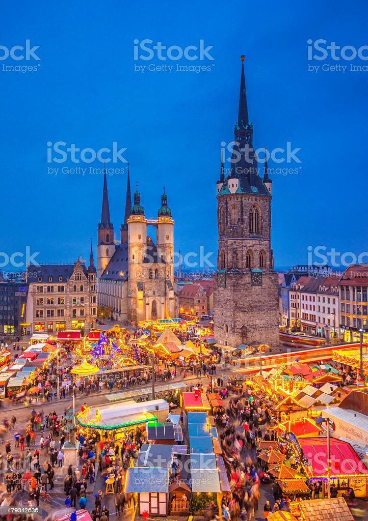 Christmas Market Halle (Saale) stock photo