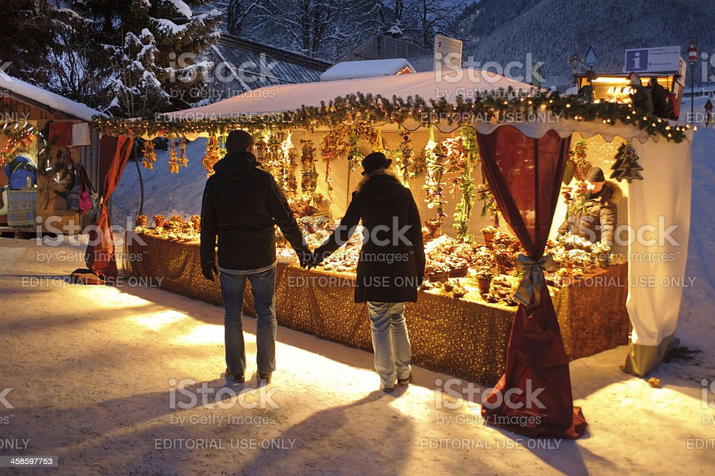 christmas market in Bavaria stock photo