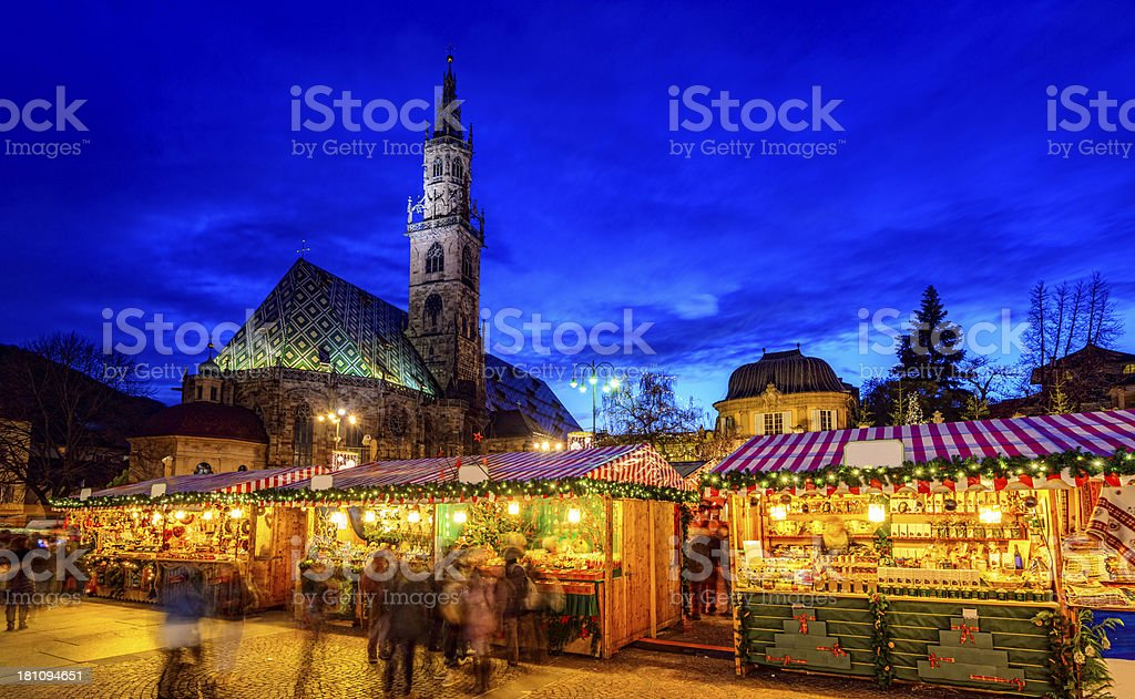 Christmas Market in Bolzano/Bozen (South Tyrol) stock photo