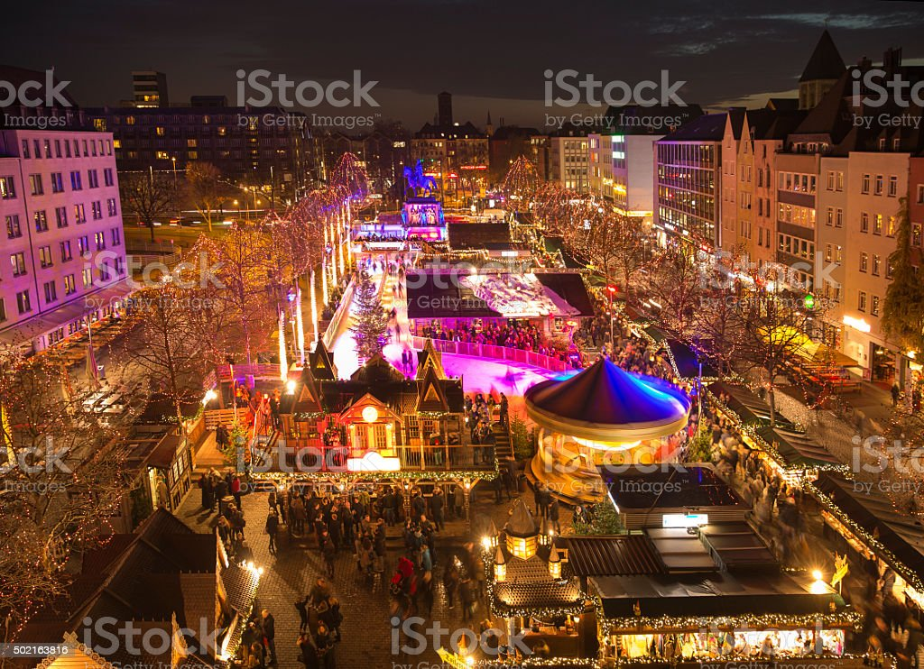 Christmas market in Cologne Germany stock photo