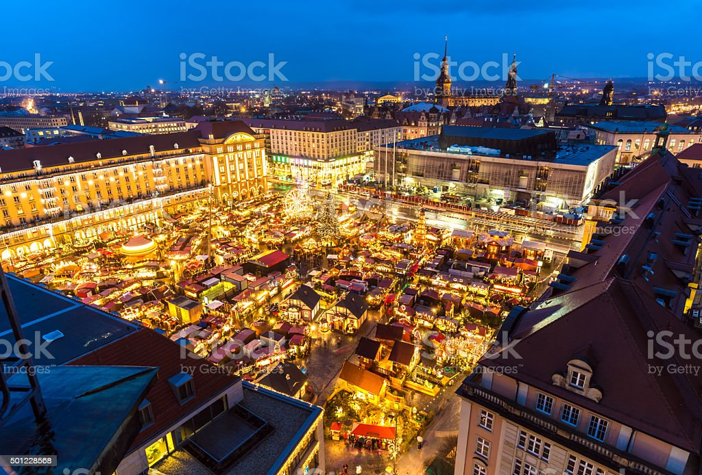 Christmas market in Dresden stock photo