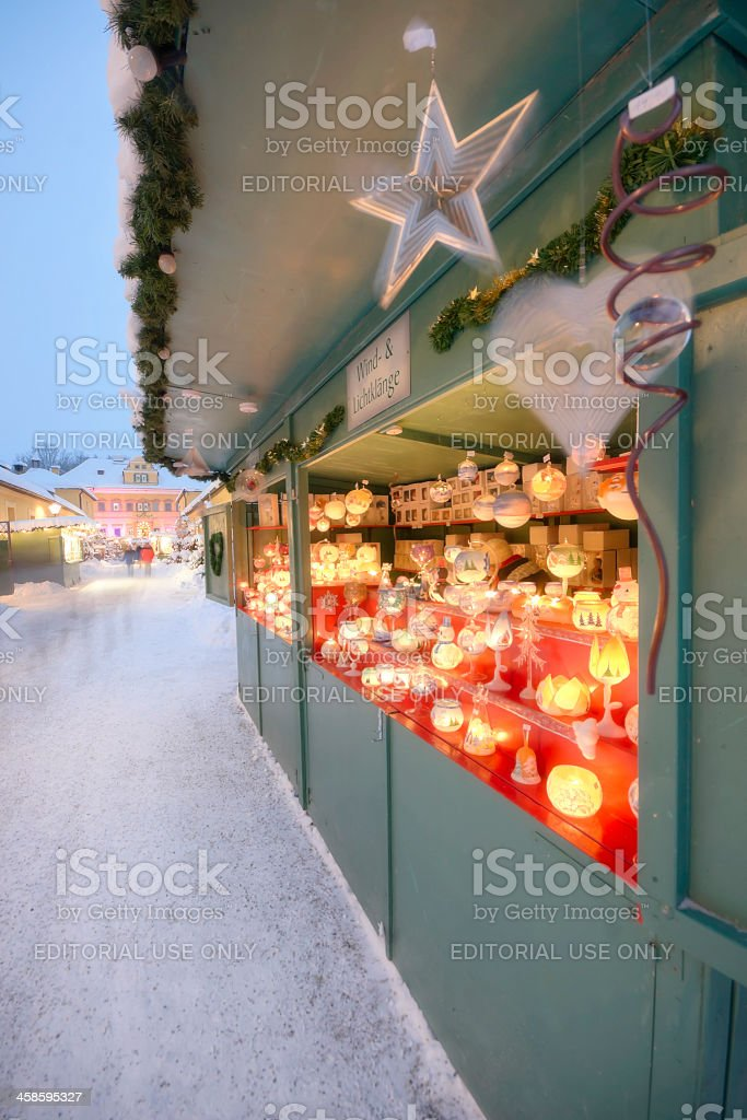 Christmas Market in Europe royalty-free stock photo
