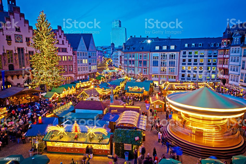 Christmas market in Frankfurt, Germany stock photo