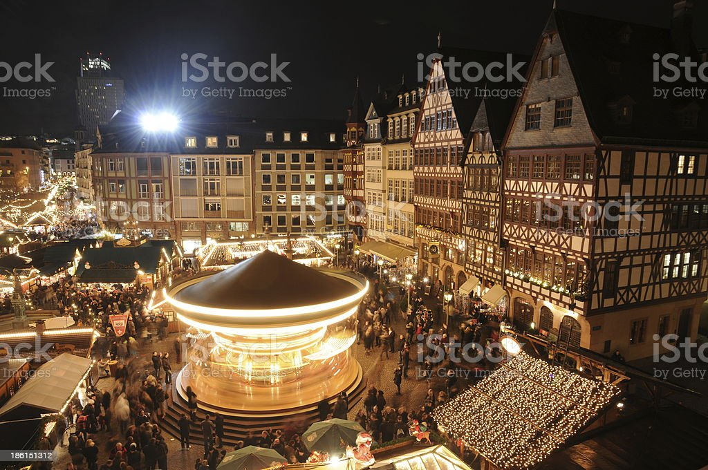 Christmas market in Frankfurt royalty-free stock photo