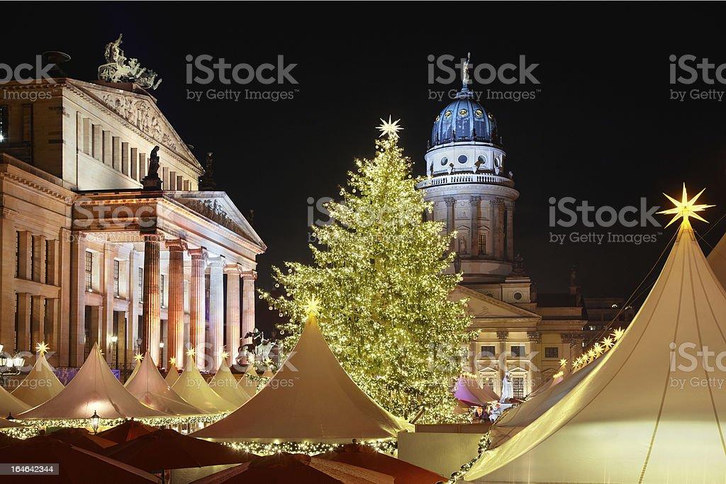 Christmas market in Gendarmenmarkt, Berlin, Germany royalty-free stock photo