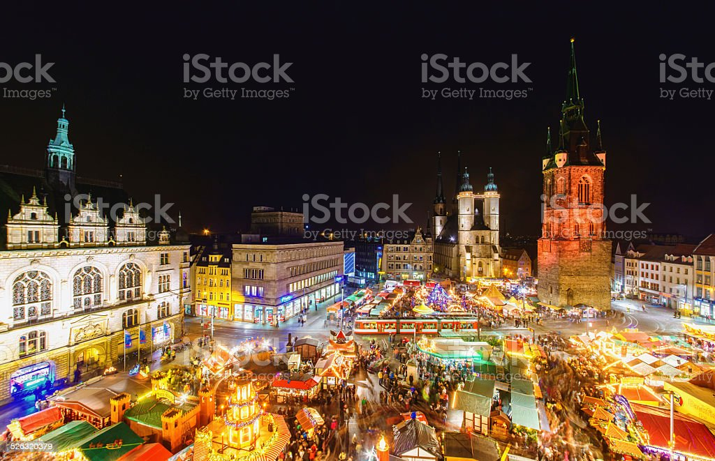 Christmas Market in Halle (Saale) stock photo