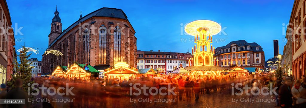 Christmas market in Heidelberg, Germany stock photo
