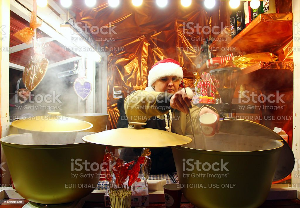 Christmas market in Kyiv stock photo