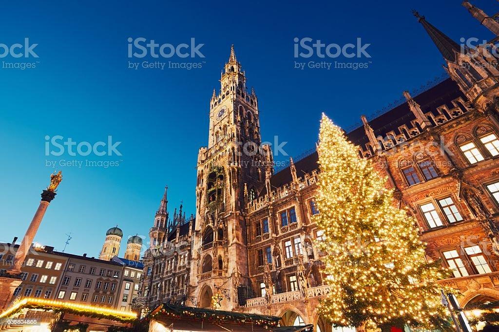Christmas market in Munich stock photo