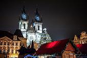 Christmas market in Prague, Czech Republic