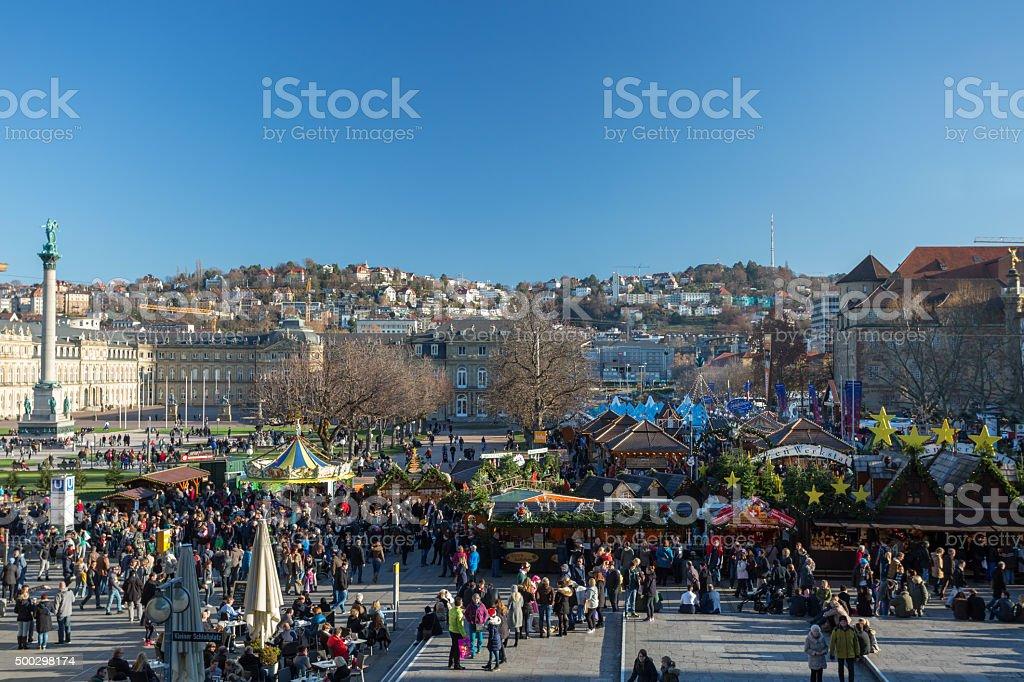 Christmas market in Stuttgart stock photo