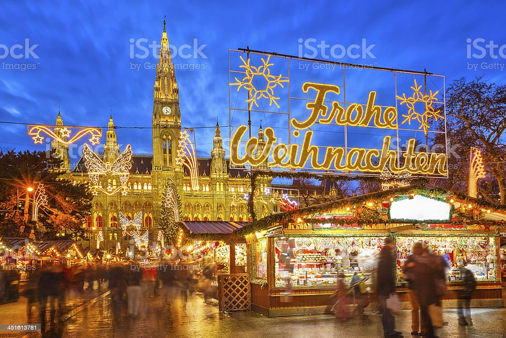 Christmas market in Vienna royalty-free stock photo