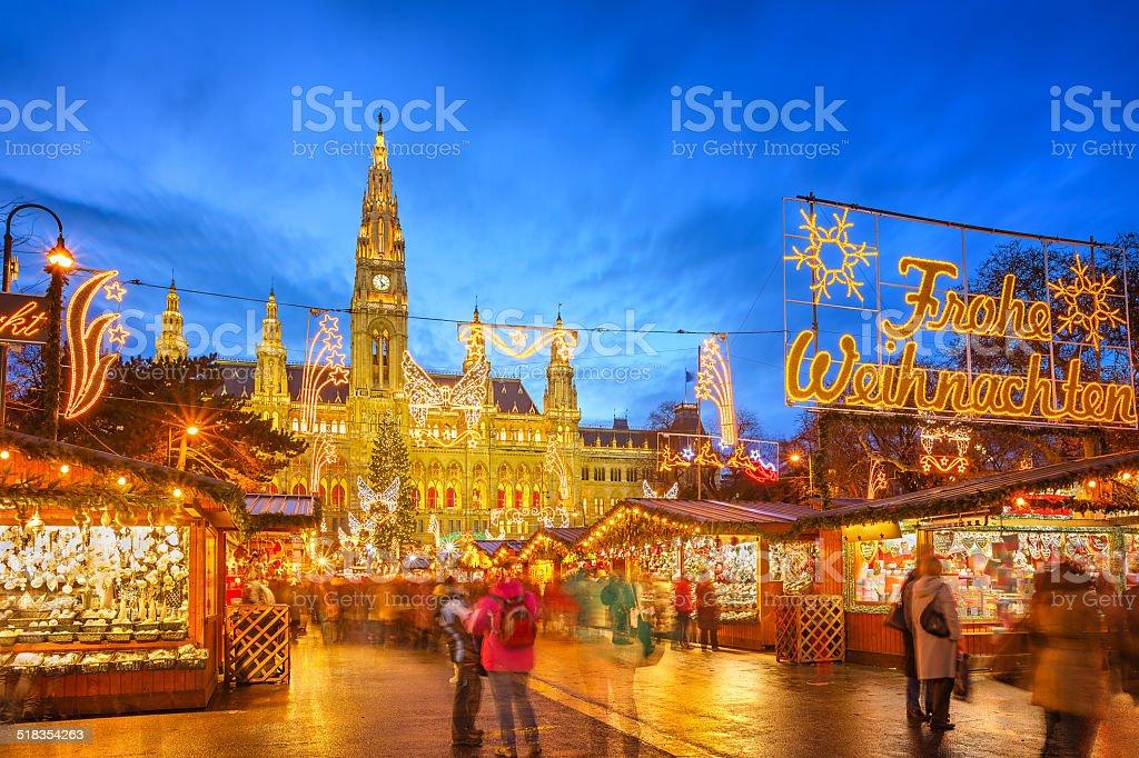 Christmas market in Vienna stock photo