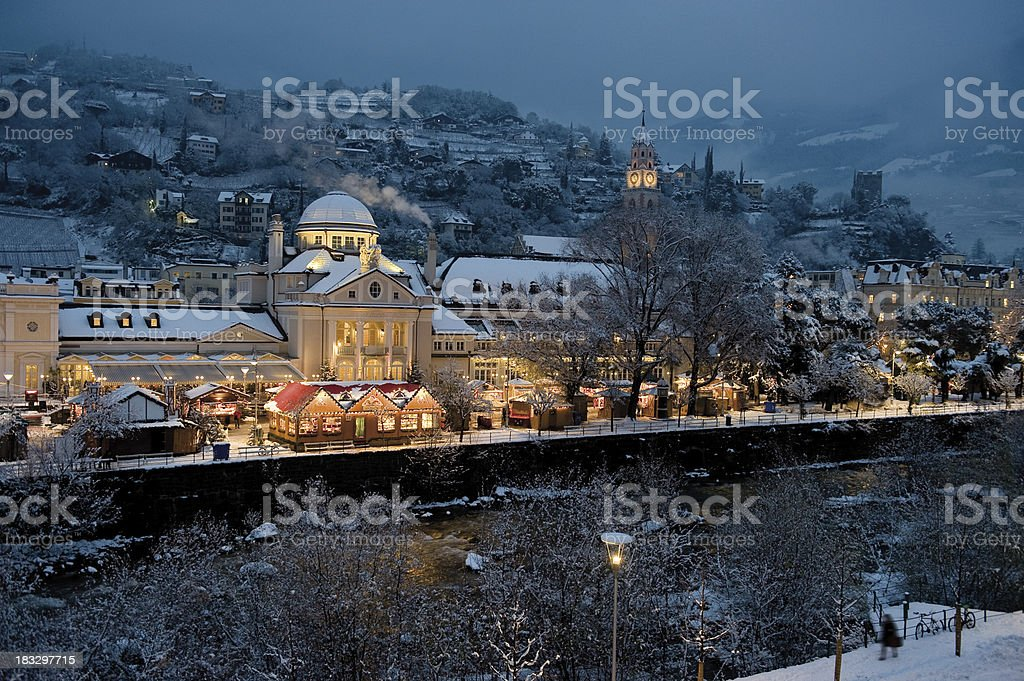 Christmas Market Merano stock photo