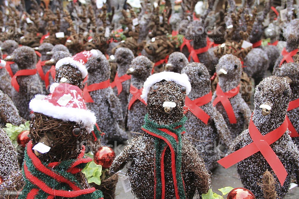 Christmas Market Penguins stock photo