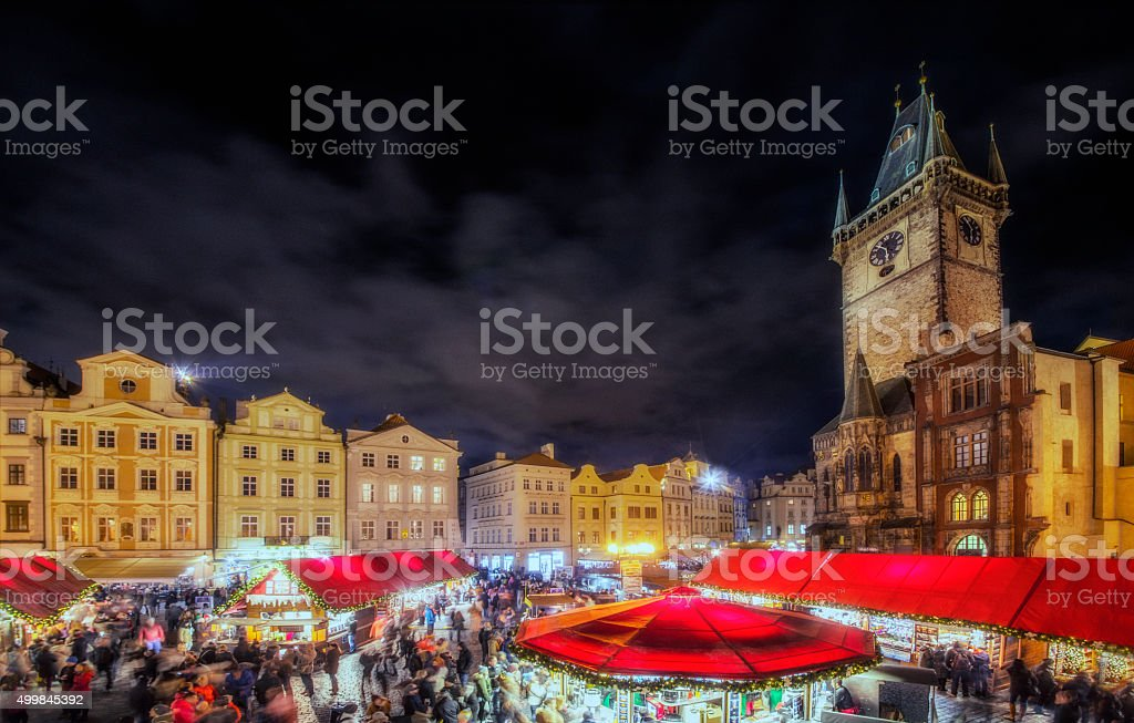 Christmas Market Prague stock photo