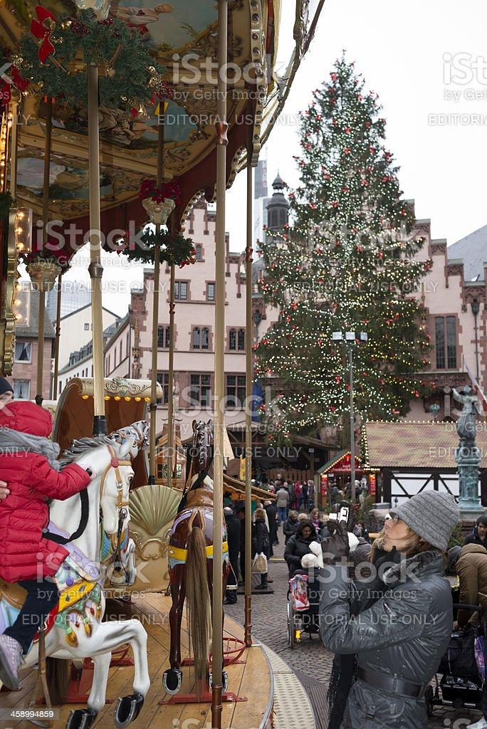 Christmas Market, Roemer, Frankfurt, Germany royalty-free stock photo