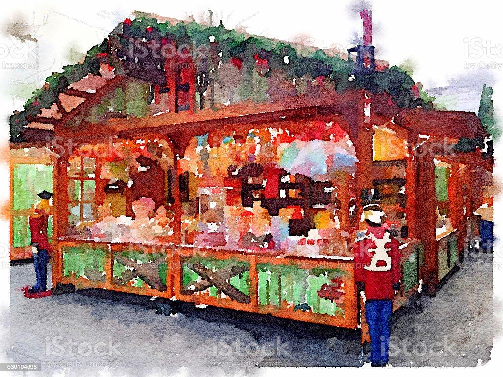 DW Christmas Market Southampton stock photo