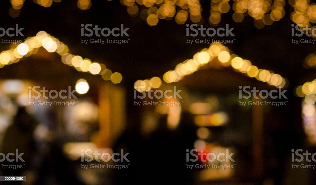 Christmas Market, unsharp background stock photo