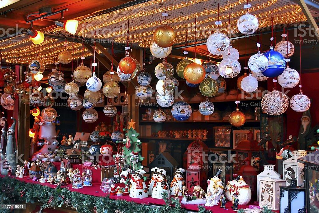 Christmas markets stock photo