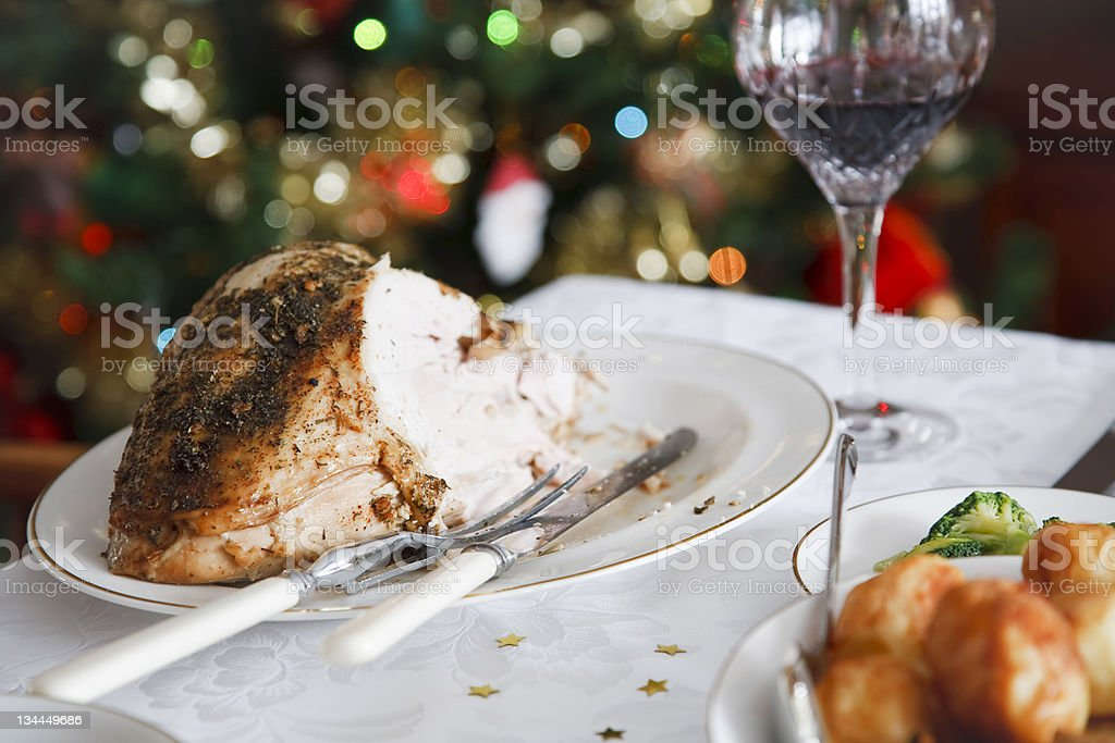 Christmas meal royalty-free stock photo