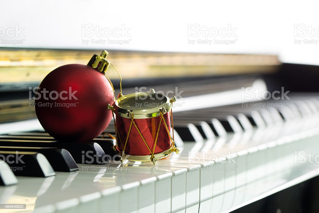 Christmas melody stock photo