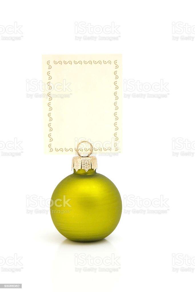 Christmas memo green royalty-free stock photo