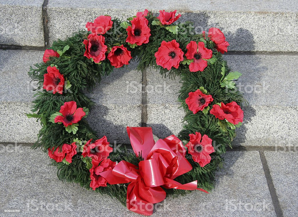 Christmas memorial wreath royalty-free stock photo