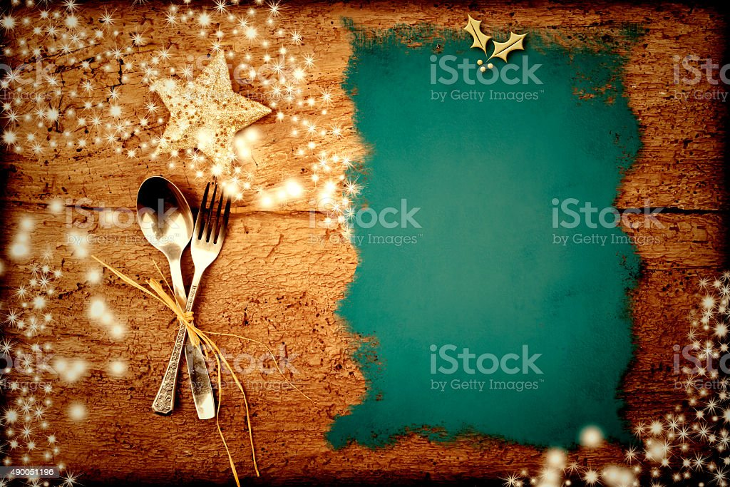Christmas menu background stock photo