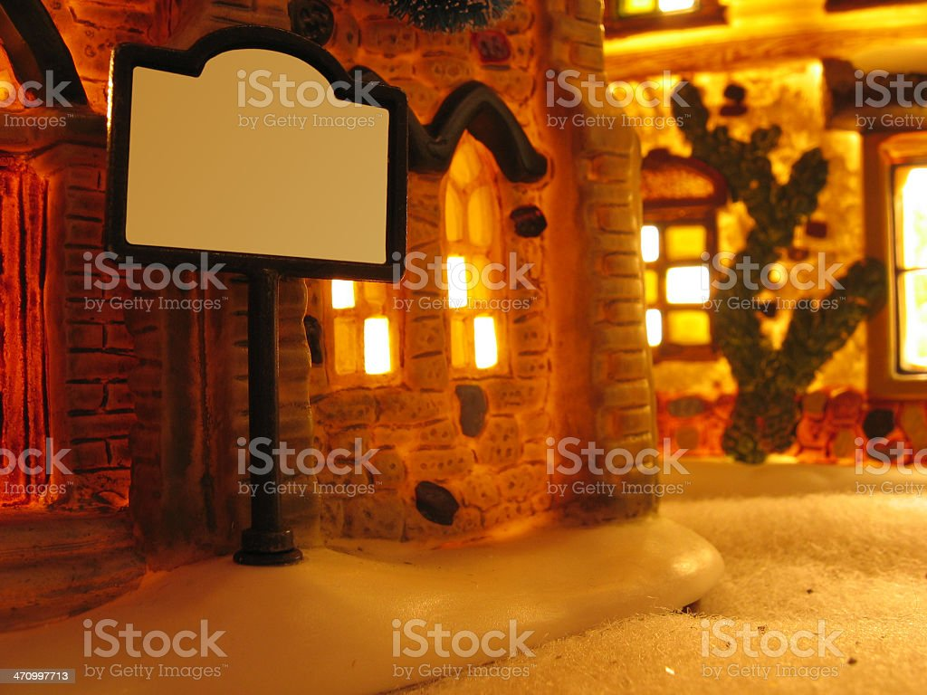 Christmas Message Goes Here royalty-free stock photo