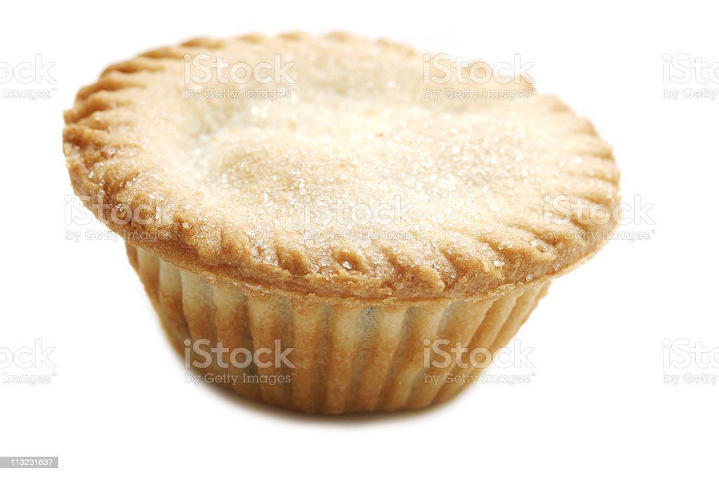 Christmas, mince pie traditional English seasonal pastry isolate stock photo
