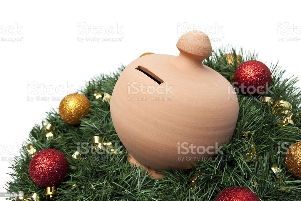 Christmas Money Box stock photo