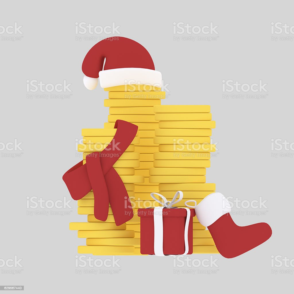 Christmas money. stock photo