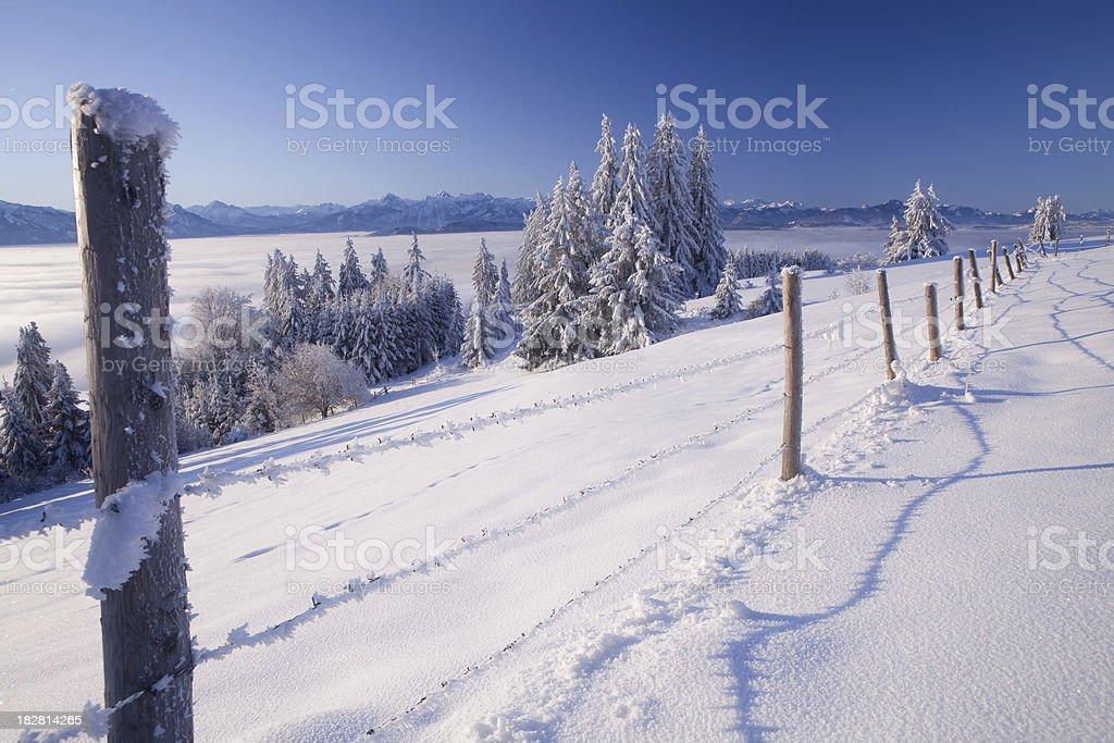 christmas morning on mt. auerberg royalty-free stock photo