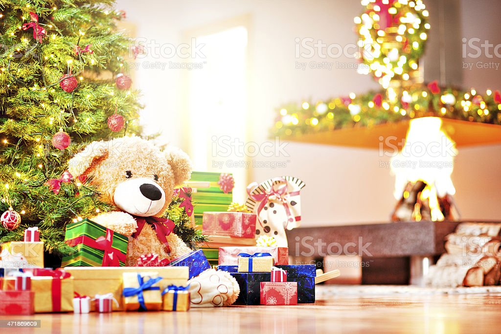 Christmas morning royalty-free stock photo