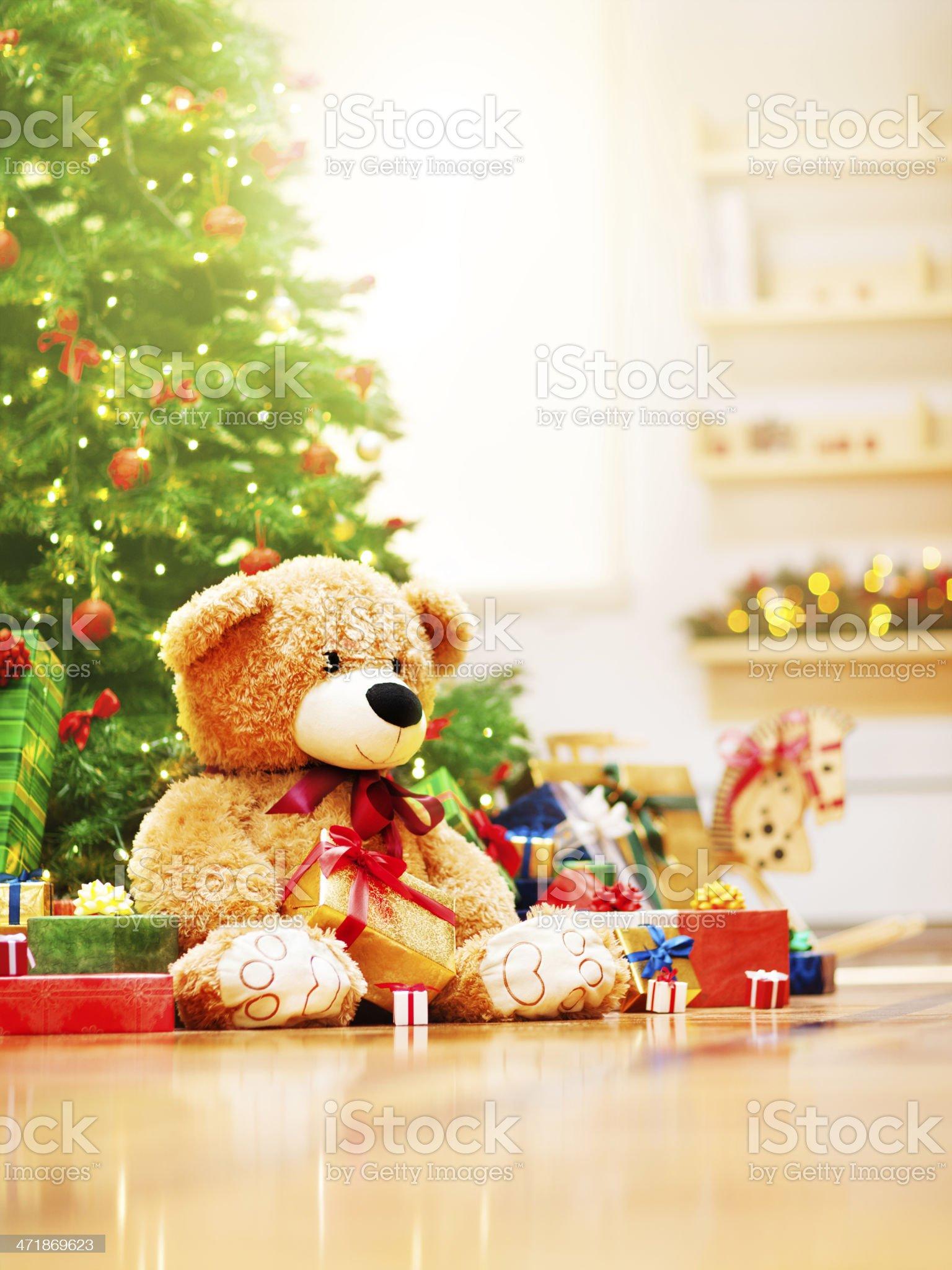 Christmas morning royalty-free stock photo
