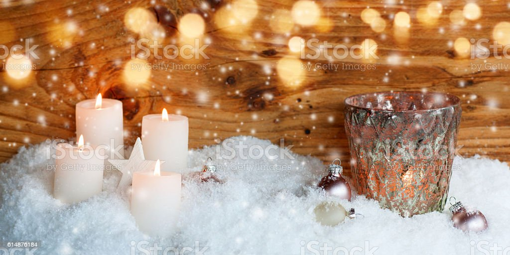Christmas motif for a greeting card stock photo