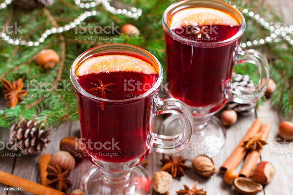 Christmas mulled wine stock photo