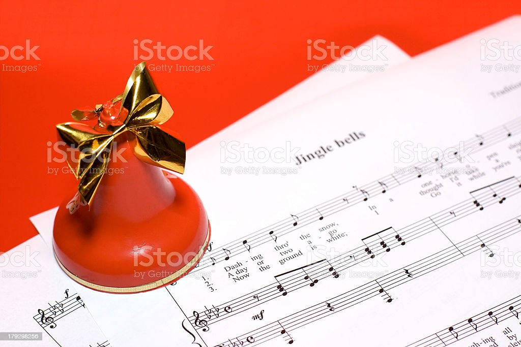 Christmas music background stock photo